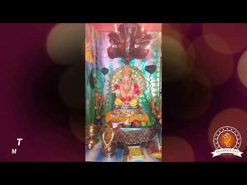 Tiwari Ajay Home Ganpati Decoration Video