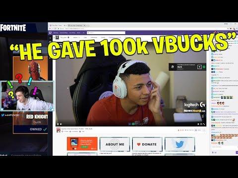 MYTH SAID NO when I gifted 100k V Bucks! (Fortnite Battle