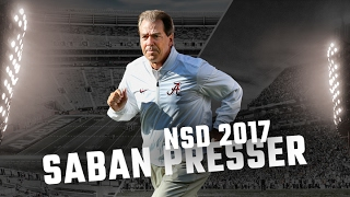 Nick Saban press conference on Alabama
