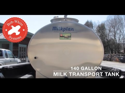 Bob-White Systems Milkplan Transport Tank 140 Gallon Milk Transport Tank