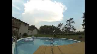 Thunderstorm Anvil and Swimming Pool Timelapse