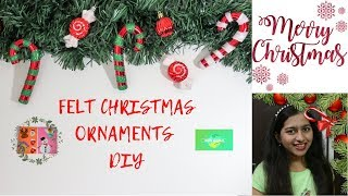 FELT CHRISTMAS ORNAMENTS DIY | NIKS WORLD