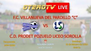 R.F.F.M. - Jornada 16 - Segunda Cadete (Grupo 10): F.C. Villanueva del Pardillo 3-3 C.D. Prodet Pozuelo.