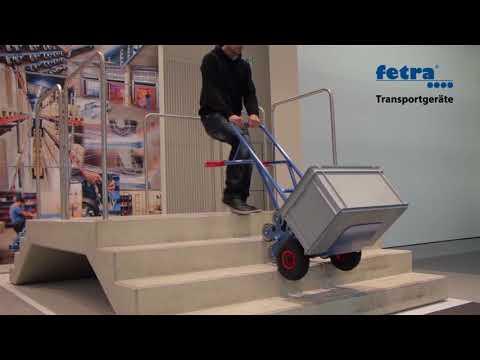 Fetra Aluminium-Treppenkarre, mit fünfarmigen Radsternen, Schaufelbreite 480mm-youtube_img
