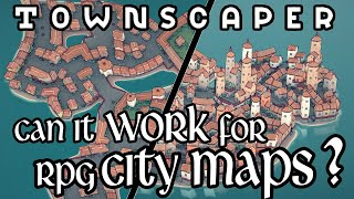 3D RPG City Maps In Townscaper