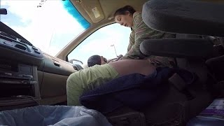 Husband Films Wife Giving Birth to 10-Pound Baby in Front Seat of Car
