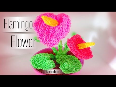 Rainbow Loom Flamingo Blume - Flower