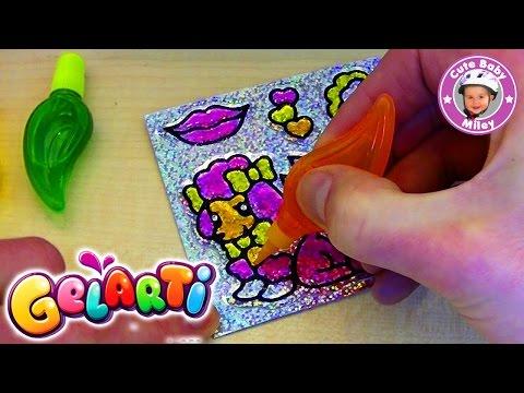 Gelarti Glitzer Sticker selbst gestalten - 40 DIY Foil Sticker Aufkleber