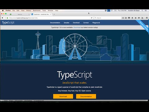 ‪3- install TypeScript  on Mac || تنصيب على نظام ماك‬‏