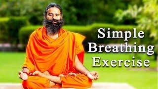 Simple Breathing Exercise for Beginners   Swami Ramdev