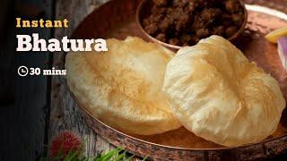 Instant Bhatura | Bhatura Recipes | Street Food | Indian Breads | Punjabi Recipes | Cookd