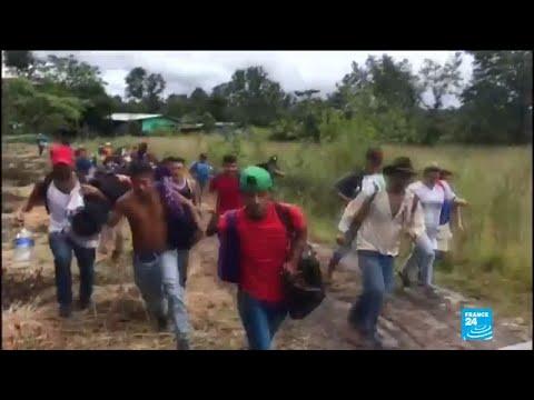 Thousands of Honduran migrants defy Trump to continue journey North