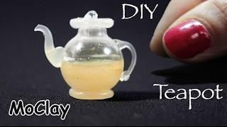 Diy Miniature Glass Teapot - Dollhouse Miniatures
