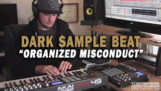 "Dark Strings Guitar Sample Hip Hop Beat Making - ""Organized Misconduct"" (prod. by TCustomz)"