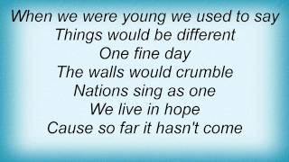Marillion - One Fine Day Lyrics