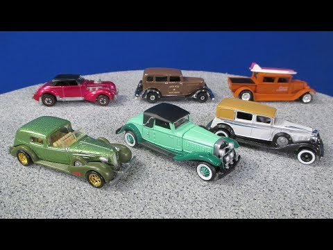 Classic 1930's Cars By Hot Wheels Johnny Lightning And Matchbox From My Toy Car Collection 30's Cars