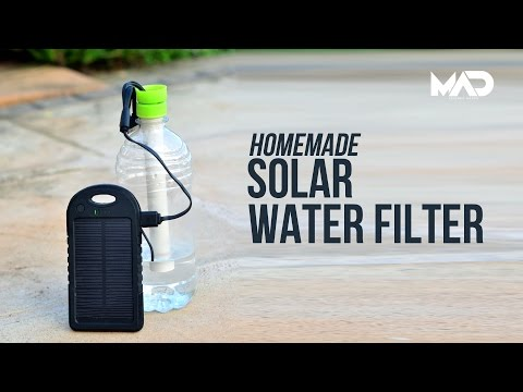 Make A Solar Powered Survival Water Filter Out Of Two Water Bottles