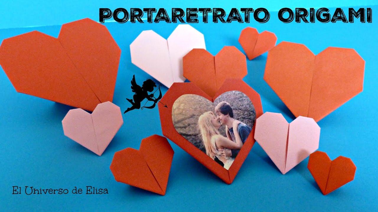 Regalo express para San Valentín, Portafotos  Corazón de Origami, Idea de Regalos para San Valentín