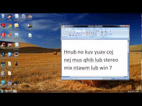 Hmong Win 7 Stereo Mix Missing