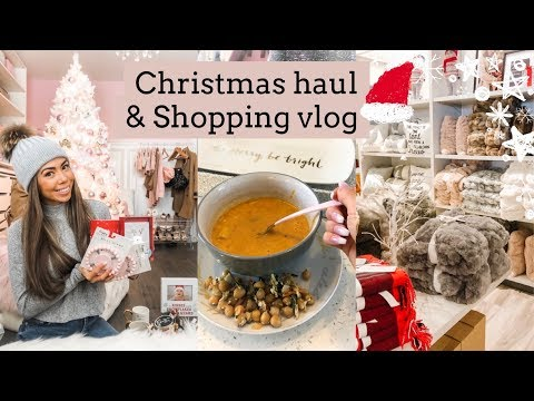 CHRISTMAS SHOPPING AND HAUL!⛄️🎅🏻VLOG 01 SLMISSGLAM