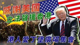 美國簽署《香港法案》  港人齊聚感謝聲援