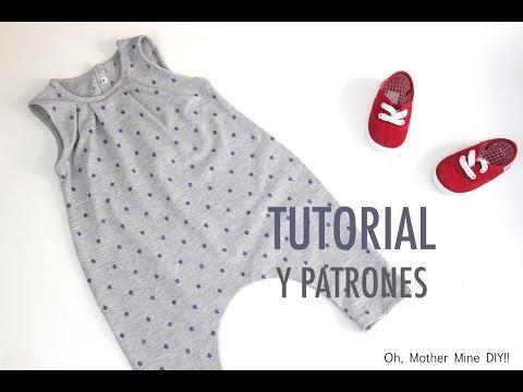 DIY Cómo hacer mono UNISEX (patrones gratis)