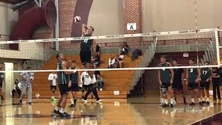 Hitting Lines - Hawaii vs Stanford Men's Volleyball (Spiking Warmup)