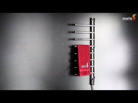 Mario Веер-I - поворотный электрический полотенцесушитель с регулятором мощности