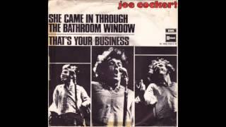 Bathroom Window Joe she came in through the bathroom window - cocker joe