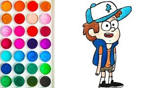 Drawing for Children with Dipper Pines Gravity Falls, Colorings for Toddler