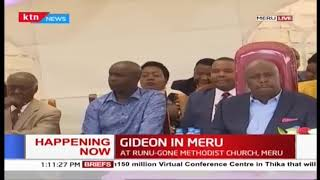 Baringo Senator Gideon Moi attends church service in Meru