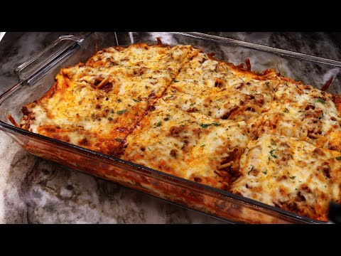 The Secret To Make The BEST Baked Spaghetti