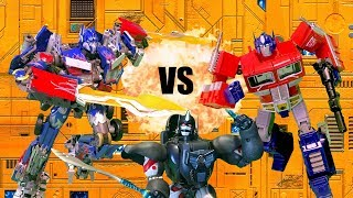 Optimus VS Prime VS Optimus Primal!! Feat. EpicVoiceGuy   Transformers Toy Battle Stop Motion  