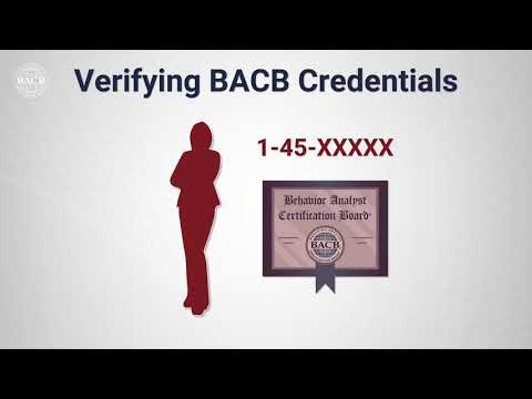 Verifying BACB Credentials - YouTube
