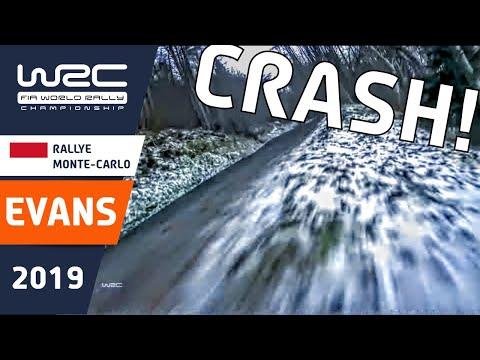 WRC - Rallye Monte-Carlo 2019: CRASH Elfyn Evans
