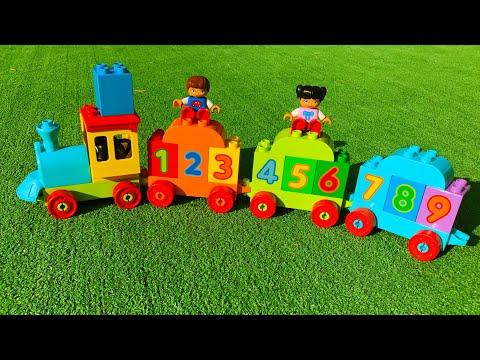 Учимся считать с паровозиком Лего Дупло | Цифры от 0 до 9