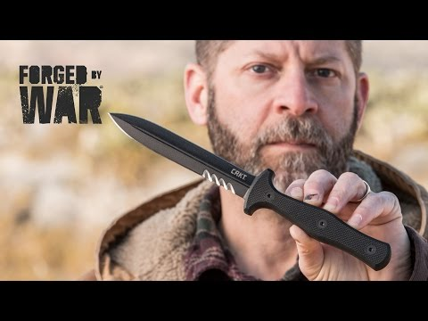 "CRKT Sangrador Tactical Fixed Blade Combat Knife (5.5"" Black Serr) 2080"