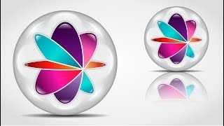 How to create 3D Logo Design (GLASS MARBLE) in Corel Draw X8