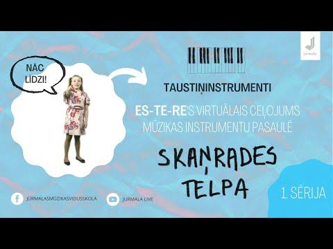 1. sērija, Esteres virtuālais ceļojums mūzikas instrumentu pasaulē SKAŅRADES TELPA – taustiņinstrumenti
