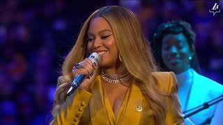Beyonce Knowles-Carter Performs at A Celebration of Life for Kobe and Gianna Bryant