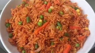 HOW TO MAKE JOLLOF RICE WITH VEGETABLE