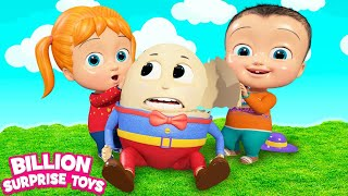 Humpty Dumpty Fantasy Cartoon | + More Kids Songs | Billion Surprise Toys