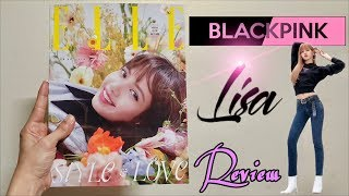 BLACKPINK Lisa Cover Magazine (Elle Magazine) 블랙핑크 리사 Review