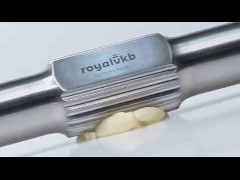 The stainless steel garlic press by Royal VKB