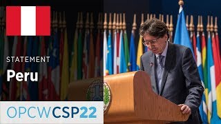 Peru participates in the 22nd Conference of State Parties to the Convention of Chemical Weapons