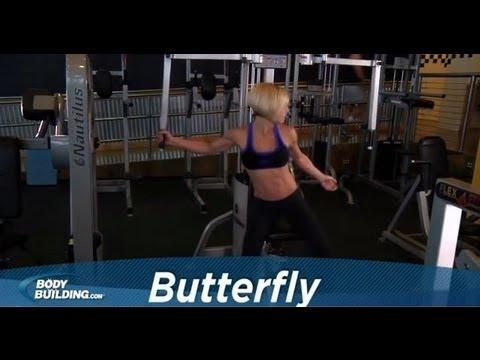 Сведение рук в тренажере (бабочка)