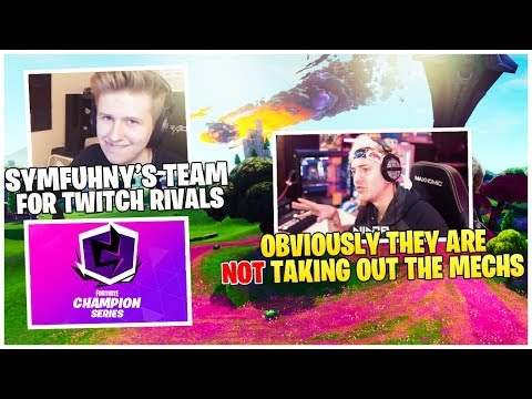 NInja Explains Why Mechs Will *NOT* Be Removed | Symfuhny *ANNOUNCES* Fortnite Twitch Rivals Team