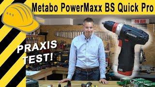 AKKUSCHRAUBER TEST | 10,8V METABO PowerMaxx BS Quick Pro - Top oder Flop?