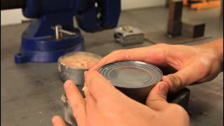 How to Open a Can without Can Opener - Zombie Survival Tips #20