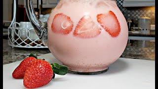 Dairy Free Fresh Strawberry Milk Recipe | Fresh Strawberry Milk Drink